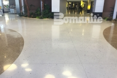 Our esteemed associate, Concrete Arts, expertly installed these stunning award-winning floors at the Infinite Campus using the Bomanite Modena Custom Polishing System, adding a unique elegance to this space with a free-flowing design that highlights the beautiful aggregates and lustrous finish.
