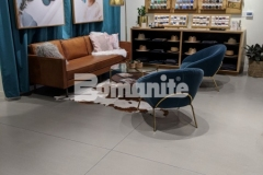 Nickel & Suede chose Bomanite Modena SL to create a polishable concrete overlay in their flagship store, creating a low maintenance surface that will provide resistance to stains and add stunning aesthetic appeal throughout this retail space.