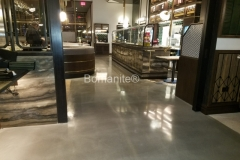 Beyond Concrete expertly installed this beautiful Bomanite Modena polished concrete, transforming the previous surface into highly decorative flooring that is perfect to provide durability as well as add to the sophisticated and elegant environment at Angeline's Restaurant.