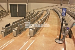 Texas Bomanite used Bomanite Patene Teres and Bomanite Patene Artectura to create custom polished and dyed concrete flooring in the lobbies, stairs, hallways, auditorium, and sanctuaries at Hope Fellowship Church and the finished product adds a warm, earthy design aesthetic that is truly welcoming.