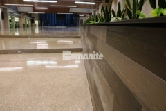 The Bomanite Renaissance Deep Grind System was an ideal choice for Olathe West High School and the installation by our associate Musselman & Hall Contractors provided a sustainable, low maintenance topping and polishing option that features a custom mix of individually sourced aggregates, sands, and integral colors.