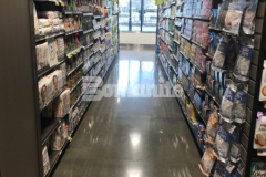 Brothers Marketplace in Waltham, MA features newly finished flooring that was installed by our colleague Premier Concrete Construction utilizing the Bomanite VitraFlor Custom Polishing System and this sustainable polished concrete is durable enough to handle foot traffic as well as the heavy-duty equipment.