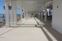 We utilized Bomanite Revealed for the Beach Area at the Westchester Country Club to create a highly decorative surface that combines the durability of concrete with color and pronounced decorative aggregate, adding a distinct design element that complements the oceanside beauty.