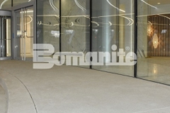 The 2018 Silver Award for Best Bomanite Exposed Aggregate System was given to our associate, Colorado Hardscapes, for their precision and technical installation of Bomanite Sandscape Refined decorative concrete to create the grand porte-cochere at 50 Fifty DTC, and the distinctive detail is a beautiful complement to the intricate and sophisticated design aesthetic.