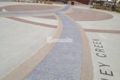 Several Bomanite Systems were installed at Centennial Center Park by our colleague Premier Concrete Services to create the beautiful hardscape surfaces featured throughout the park, including a mix of Bomanite Imprint Systems, Bomanite Sandscape Texture, and Bomanite Revealed.