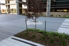 Sandscape Texture by Bomanite was installed here to create a distinctive decorative concrete hardscape surface and the beauty of quality architectural concrete truly shines through in this space.