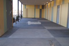 The newly constructed Tulsa County Family Center for Juvenile Justice features Bomanite Sandscape Texture that was used to create the exterior decorative concrete walkway and front entry and will provide a highly durable and distinct hardscape surface.