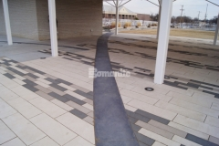 Featured here is Bomanite Sandstone imprinted concrete, which was chosen for this outdoor space to create accent borders that create definition around concrete pavers while enhancing the beautiful design aesthetic at Redbud Festival Park in Owasso, Oklahoma.