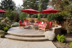 Bomanite Imprint Systems and Bomanite Exposed Aggregate Antico were installed here by our associate Heritage Bomanite to create hardscape surfaces with distinct design detail that provide an appealing environment for year-round outdoor living.
