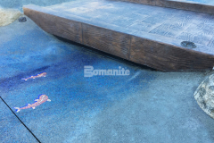 Our colleague Belarde Company installed Bomanite architectural concrete throughout the newly designed Inspiration Playground at Downtown Bellevue Park, including Bomanite Imprint Systems and the Bomacron 12-inch Boardwalk pattern to create this stunning stamped concrete bridge with replicated wooden planks.