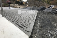 This beautiful hardscape surface was expertly installed by our colleague, Premier Concrete Construction, and features Bomanite Grasscrete pervious concrete that will provide a permanent solution for stormwater management.