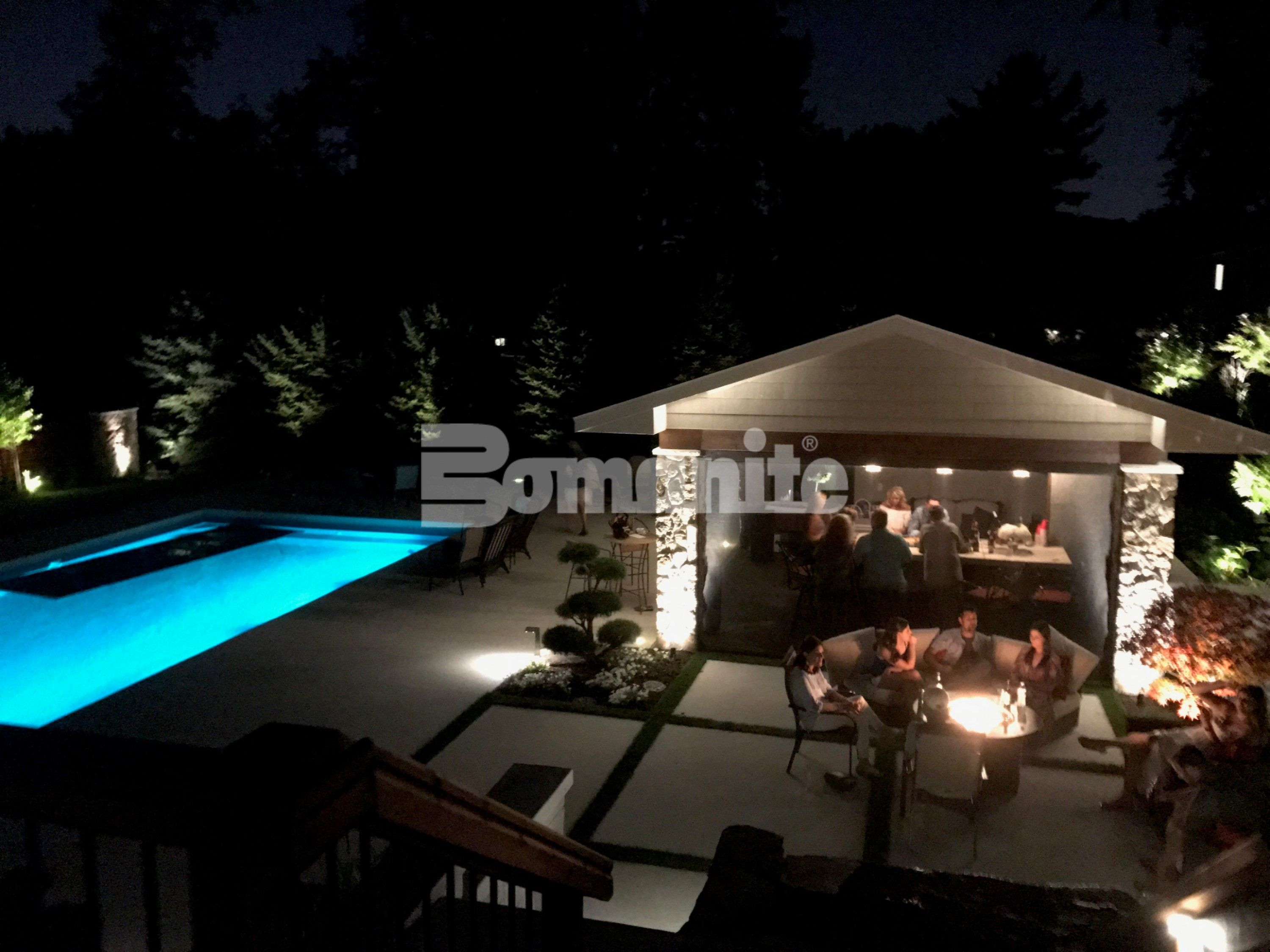 Backyard Resort Pool Deck by Concrete Arts exhibiting many of the Bomanite Decorative Concrete Systems creating a stunning backyard space.