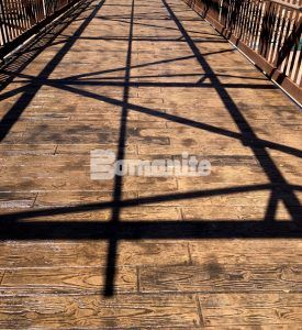 "Bomacron 6"" Random Boardwalk pattern make this bridge look like wood planks using Bomanite Imprint Systems at the El Paso Zoo Chihuahuan Desert Exhibit installed by Bomanite Artistic Concrete & Pools."